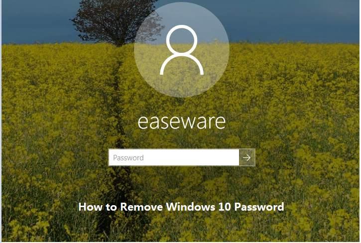 how to remove laptop login password windows 10