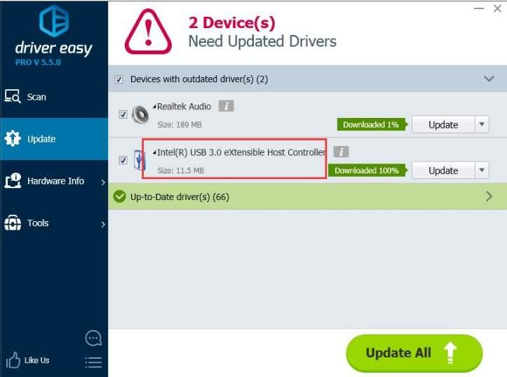 usb 3 0 driver update easily for windows 10 7 8 driver easy. Black Bedroom Furniture Sets. Home Design Ideas
