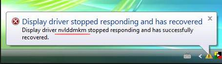 what is amd display driver stopped responding