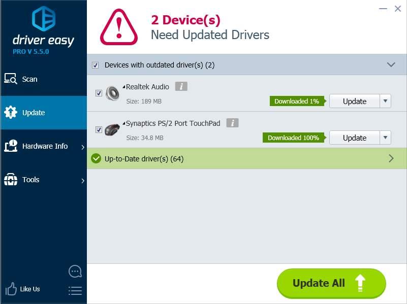download synaptics touchpad driver windows 7 64 bit hp