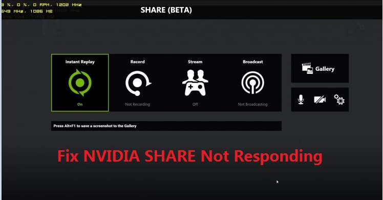 NVIDIA Share Not Responding [SOLVED] - Driver Easy
