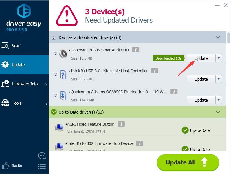 download audio drivers for windows 7 driver easy. Black Bedroom Furniture Sets. Home Design Ideas