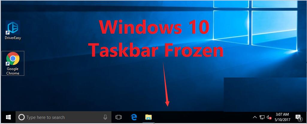 lost taskbar windows 10