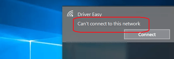 Solved] Can't connect to this network on Windows 10 - Driver