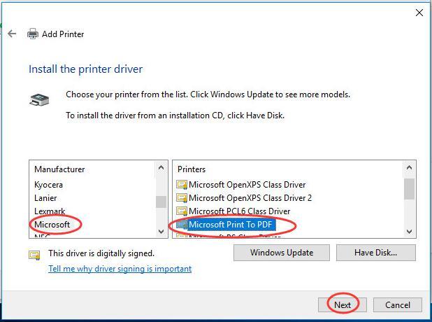 Microsoft Print To Pdf Driver