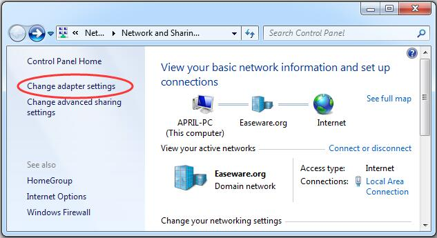 how to change wifi on windows 7