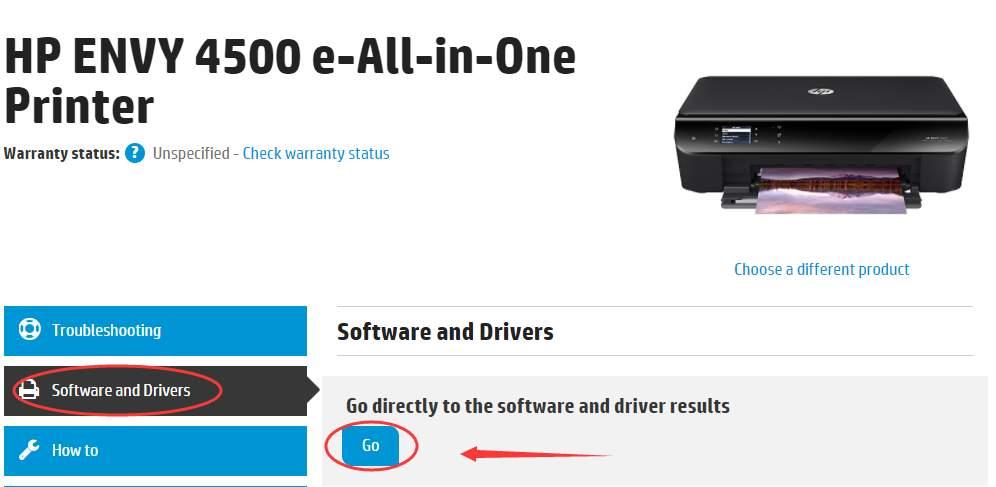 download hp envy 4500 series