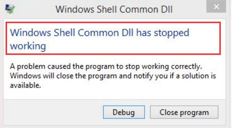 how to change a file to windows shell common dll