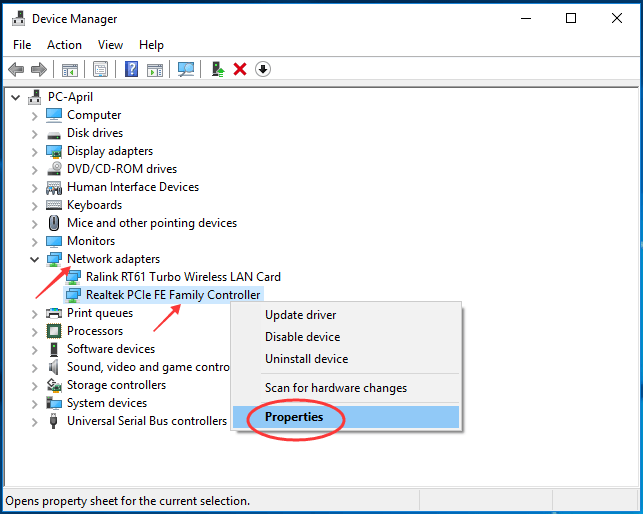 windows 8.1 network driver problem