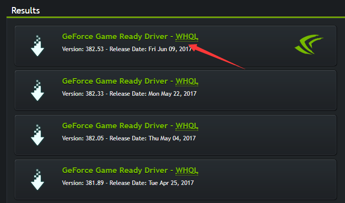 wont geforce download drivers
