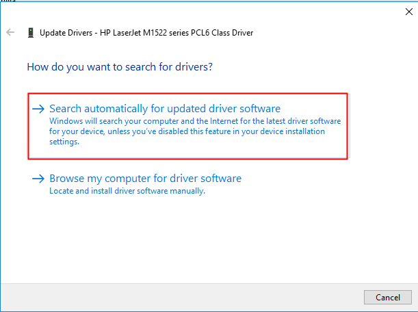 then follow the instructions to install the drivers if you have driver files available on your computer you can select the second option browse my