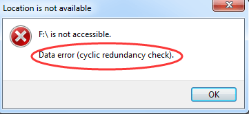 SOLVED] Data error (cyclic redundancy check) - Driver Easy