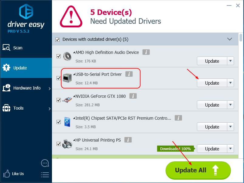 descargar driver usb serial windows 10