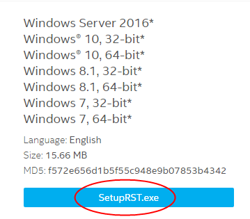 Solved] Intel RST service is not running on Windows 10