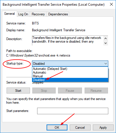 can i disable background intelligent transfer service