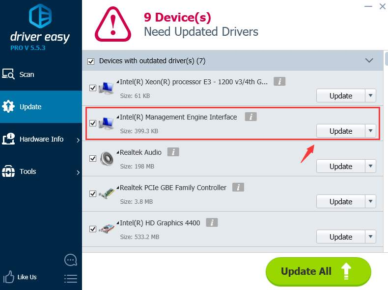 Intel Management Engine Interface Driver Code 10 [Solved