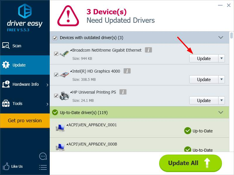 Updating road runner modem drivers