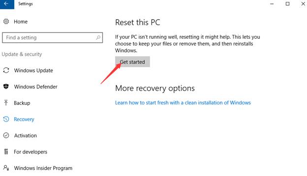 activate windows screen blank