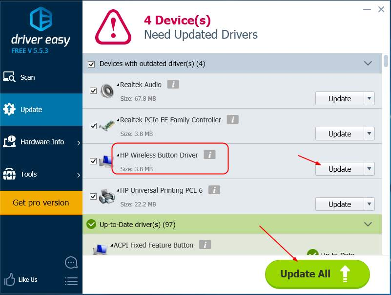 HP Wireless Button Treiber Herunterladen