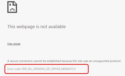 Fixed: Err_SSL_Version_or_Cipher_Mismatch on Windows