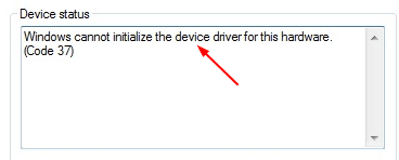 Solved] Code 37: Windows cannot initialize the device driver