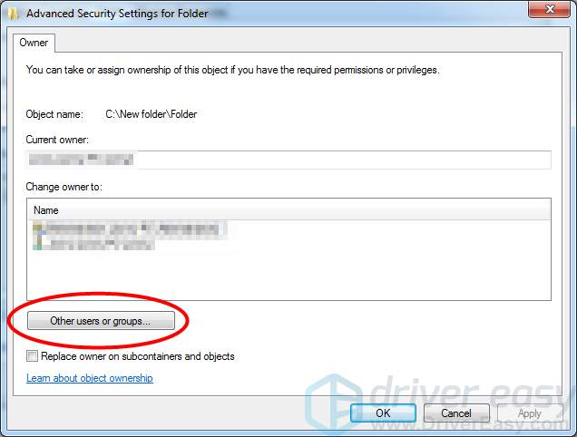 how to fix access denied 5