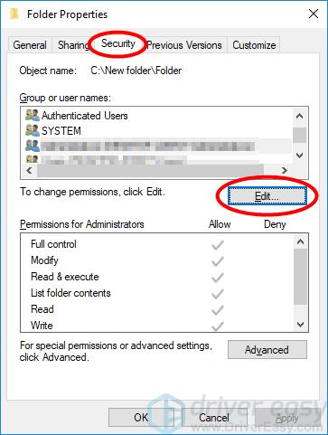 Error 1601 File Access Denied