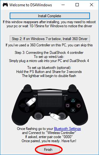 playstation 4 controller drivers windows 7