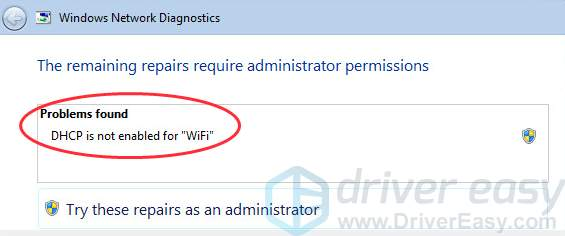 DHCP is not enabled for WiFi in Windows [Easy Fixes