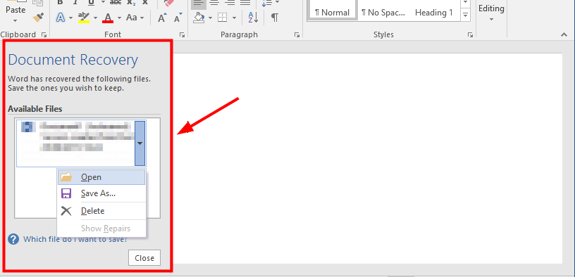 Easily Recover a Lost Word Document in Windows 10 [with Pictures