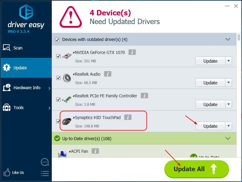 Solved] Synaptics device not found! - Driver Easy