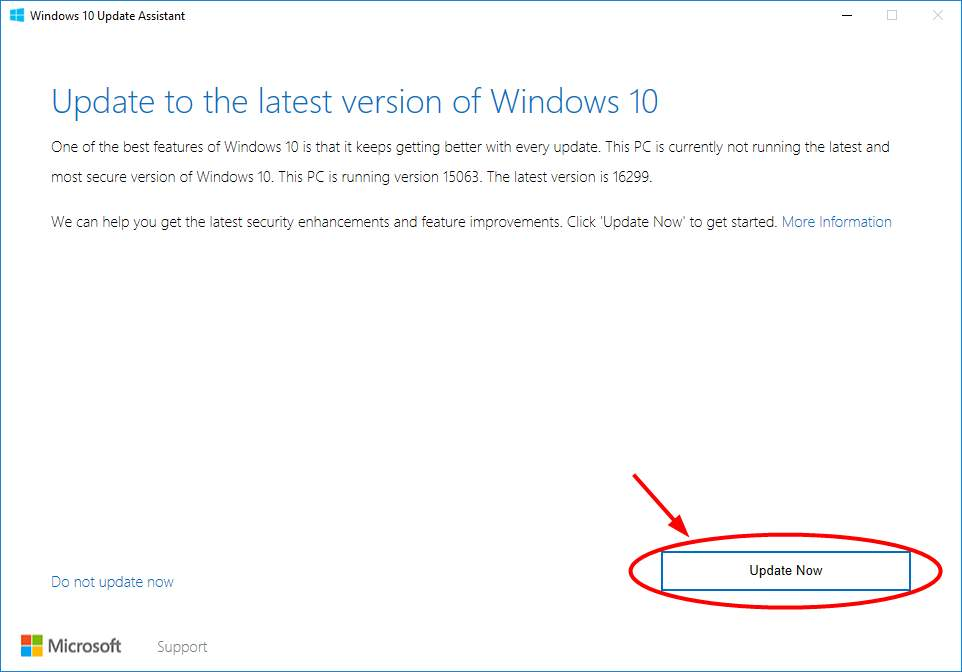 Feature Update to Windows 10 Version 1607 Failed to Install