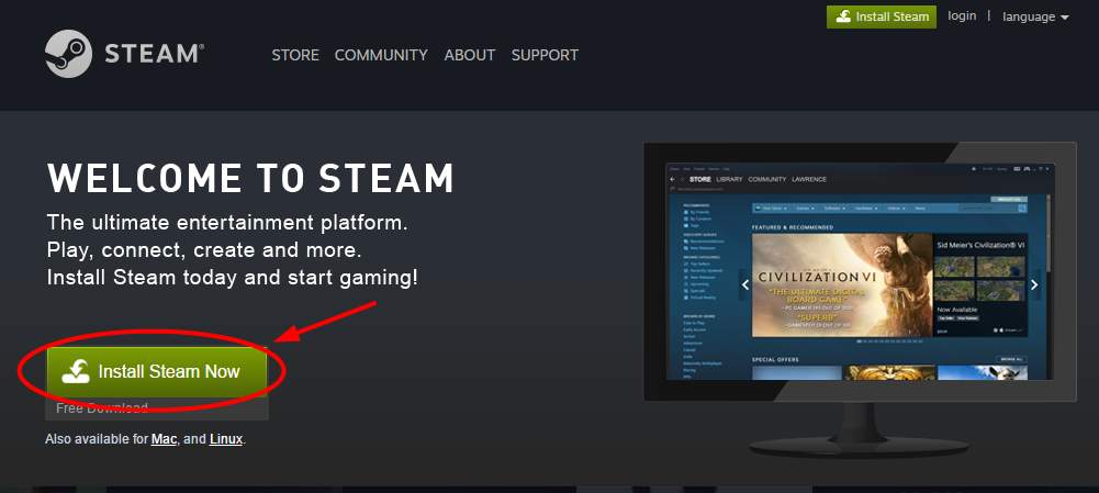 steam app wont open windows 10