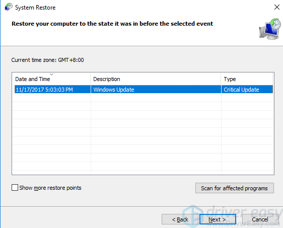 stop code irql not less or equal windows 10 install