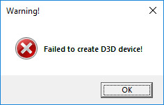 failed to reset d3d9 device