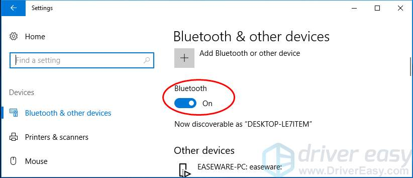 How to Turn on Bluetooth on Windows 10 [Solved] - Driver Easy