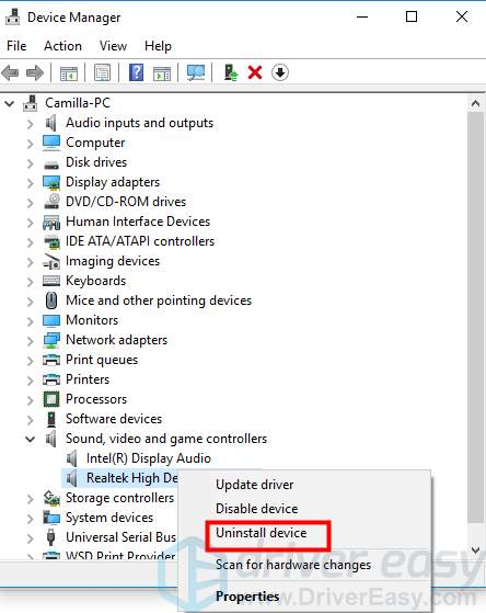 ERROR CODE 39 WAS RETURNED BY THE AUDIO WINDOWS 10 DRIVER