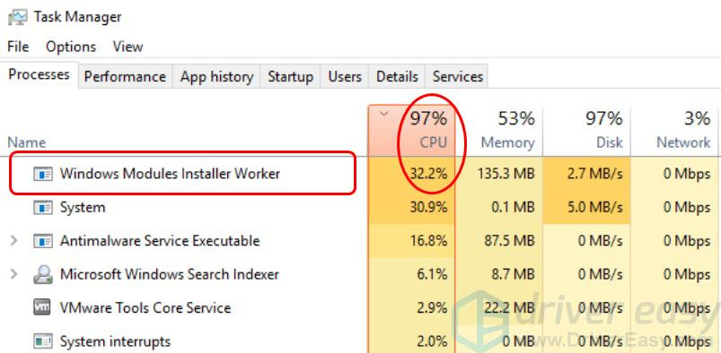what does windows modules installer worker do