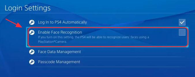 3 uncheck enable face recognition - why does fortnite keep crashing ps4 2019