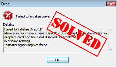 Failed to initialize Direct3D [Fixed] - Driver Easy