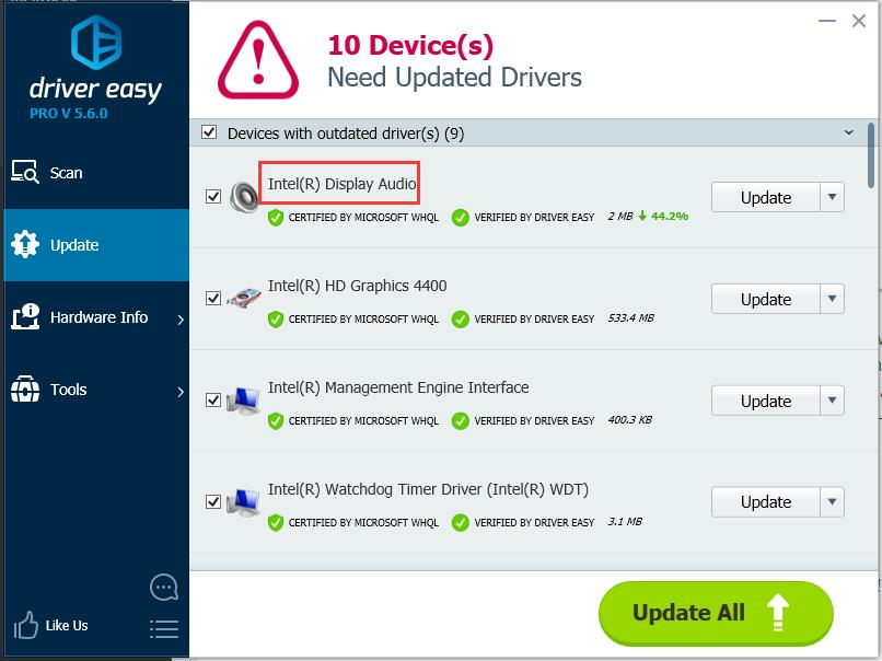 download driver modem device on high definition audio bus