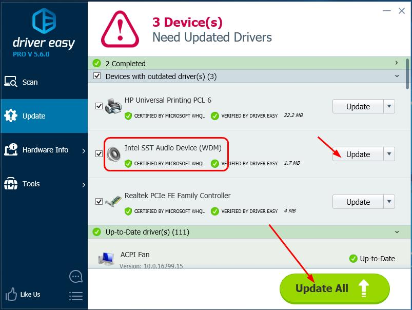 DRIVERS INTEL SST AUDIO CONTROLLER