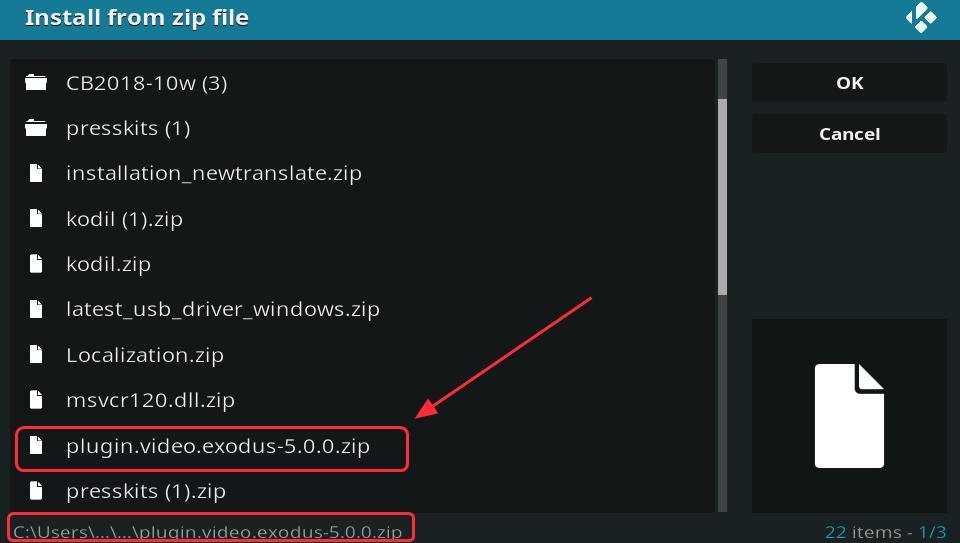 install exodus on kodi windows