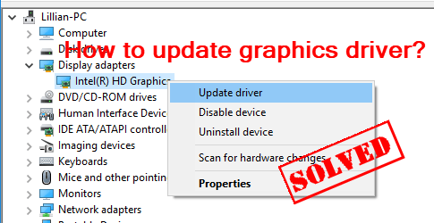 updating graphic card drivers