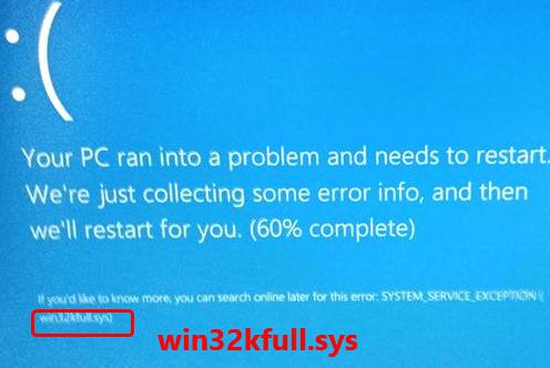 blue screen of death system service exception