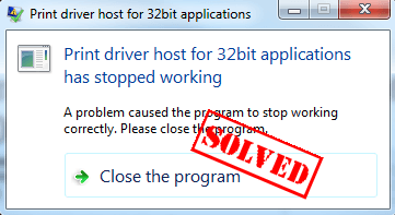 Fixed] Print driver host for 32bit applications has stopped