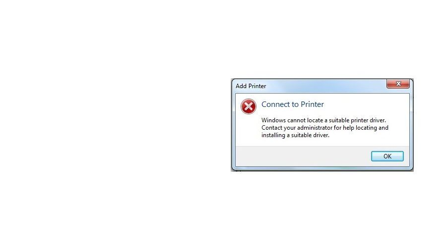 How To Fix Windows cannot locate a suitable printer driver