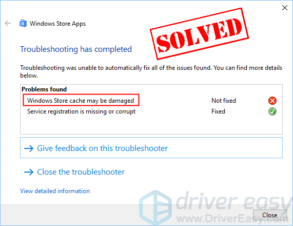 windows 10 store app troubleshooter download