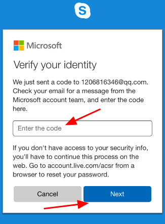 how to change skype password mobile