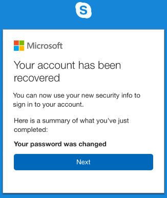 how to change skype password on phone